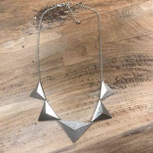 Silver Pyramid Necklace